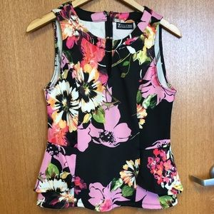 New York and Company Floral Peplum Top